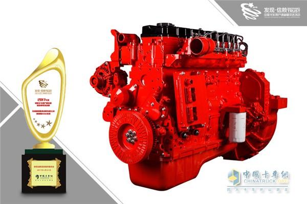 东风康明斯ISDe获2017年度中国卡车用户最信赖高效中型发动机奖